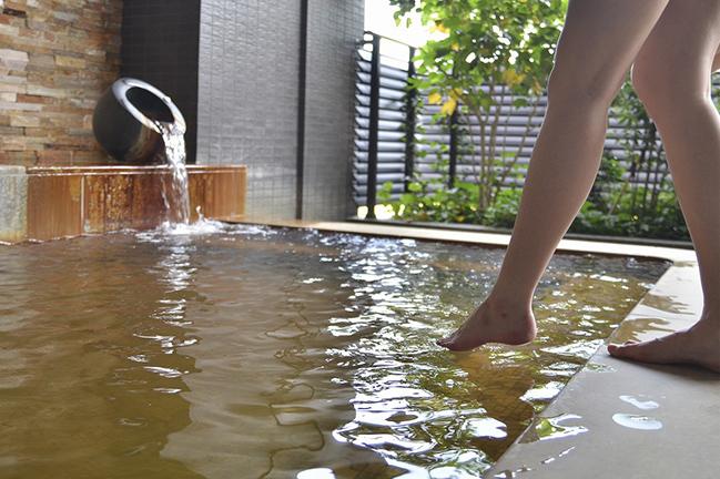 天然温泉の入浴施設
