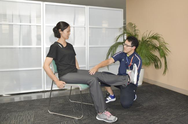 理学療法士と身体相談